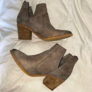 Not Rated Taupe Booties Size 10